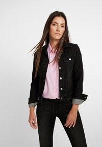 Lee - SLIM RIDER - Denim jacket - black orrick - 0