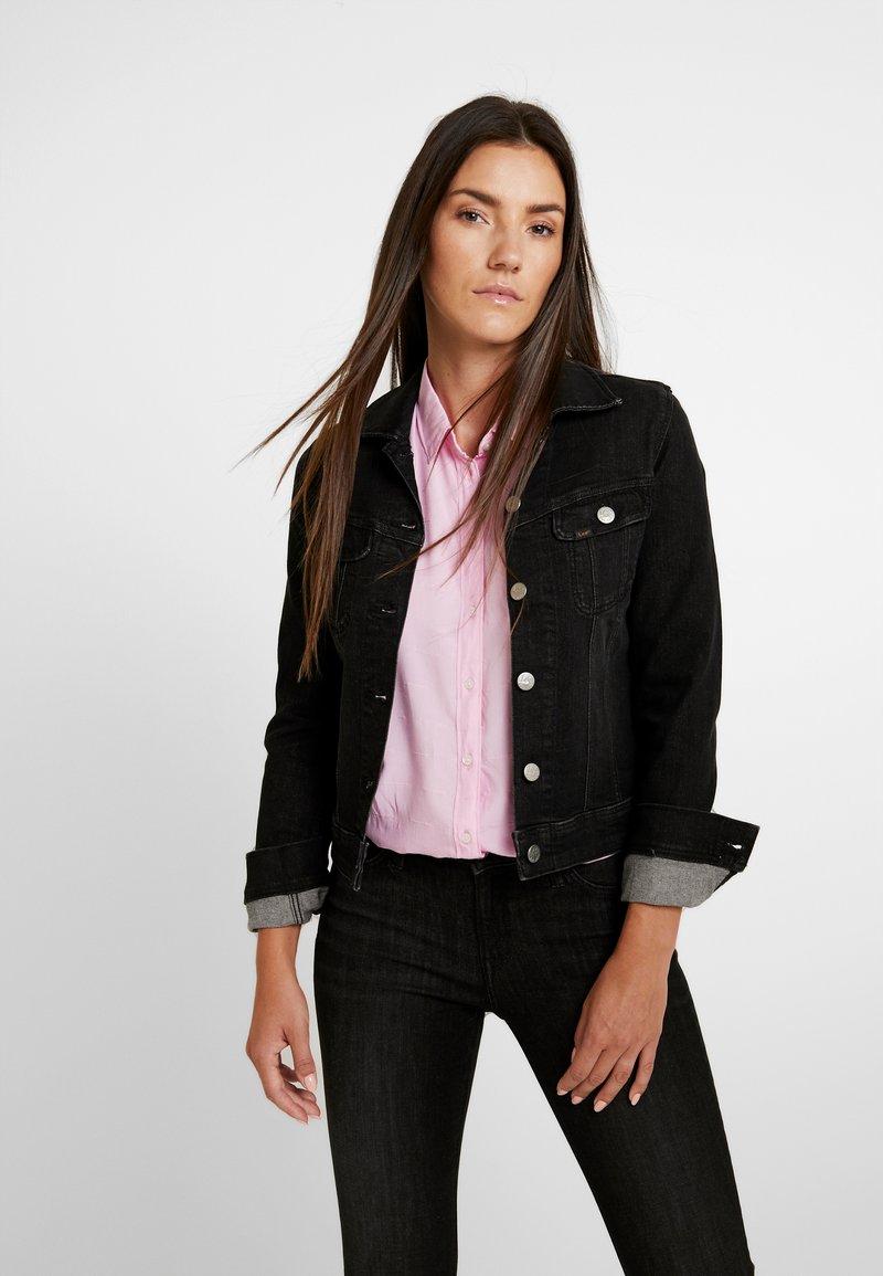 Lee - SLIM RIDER - Denim jacket - black orrick
