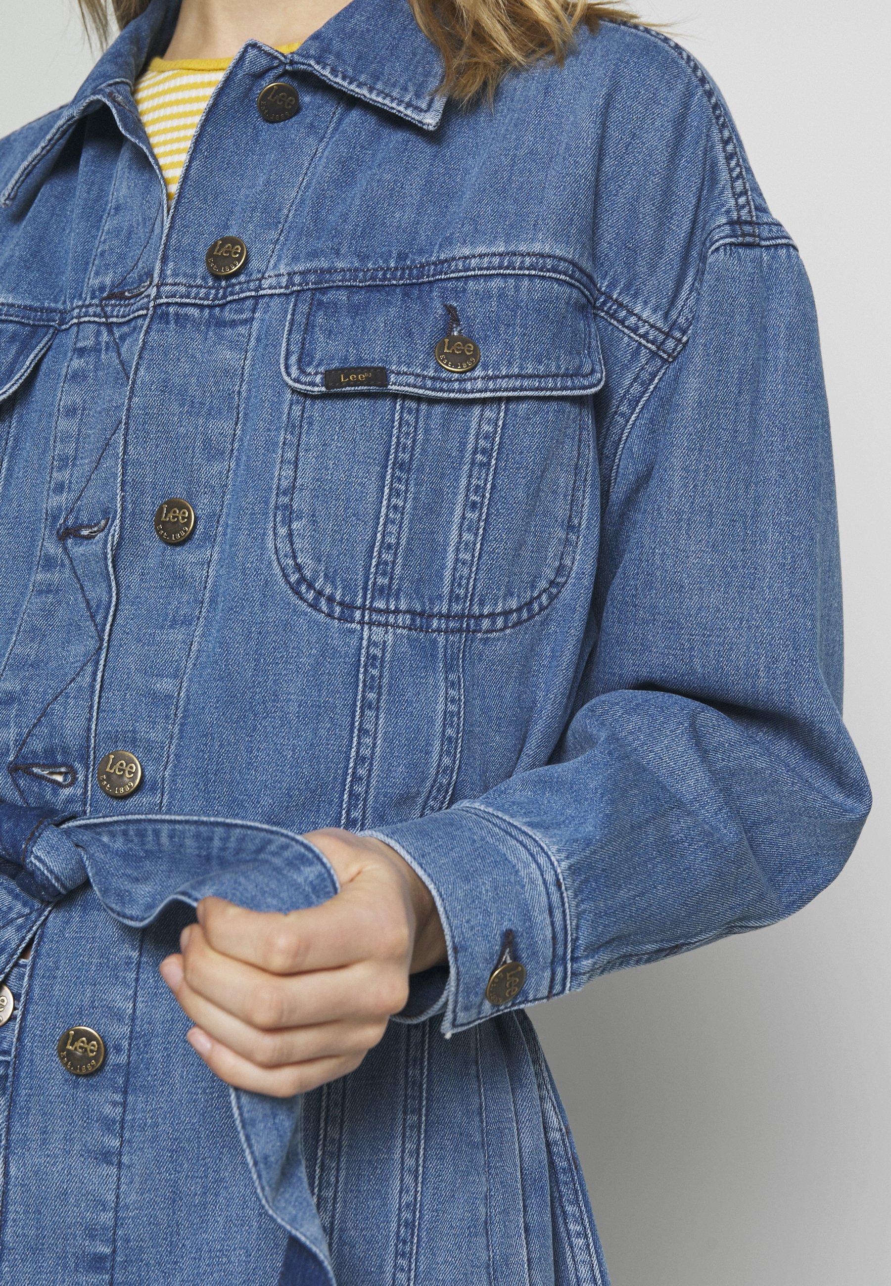 Lee BELTED RIDER JACKET - Krótki płaszcz - light drape