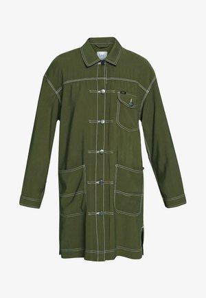 ELONGATED DUSTER - Short coat - olive green