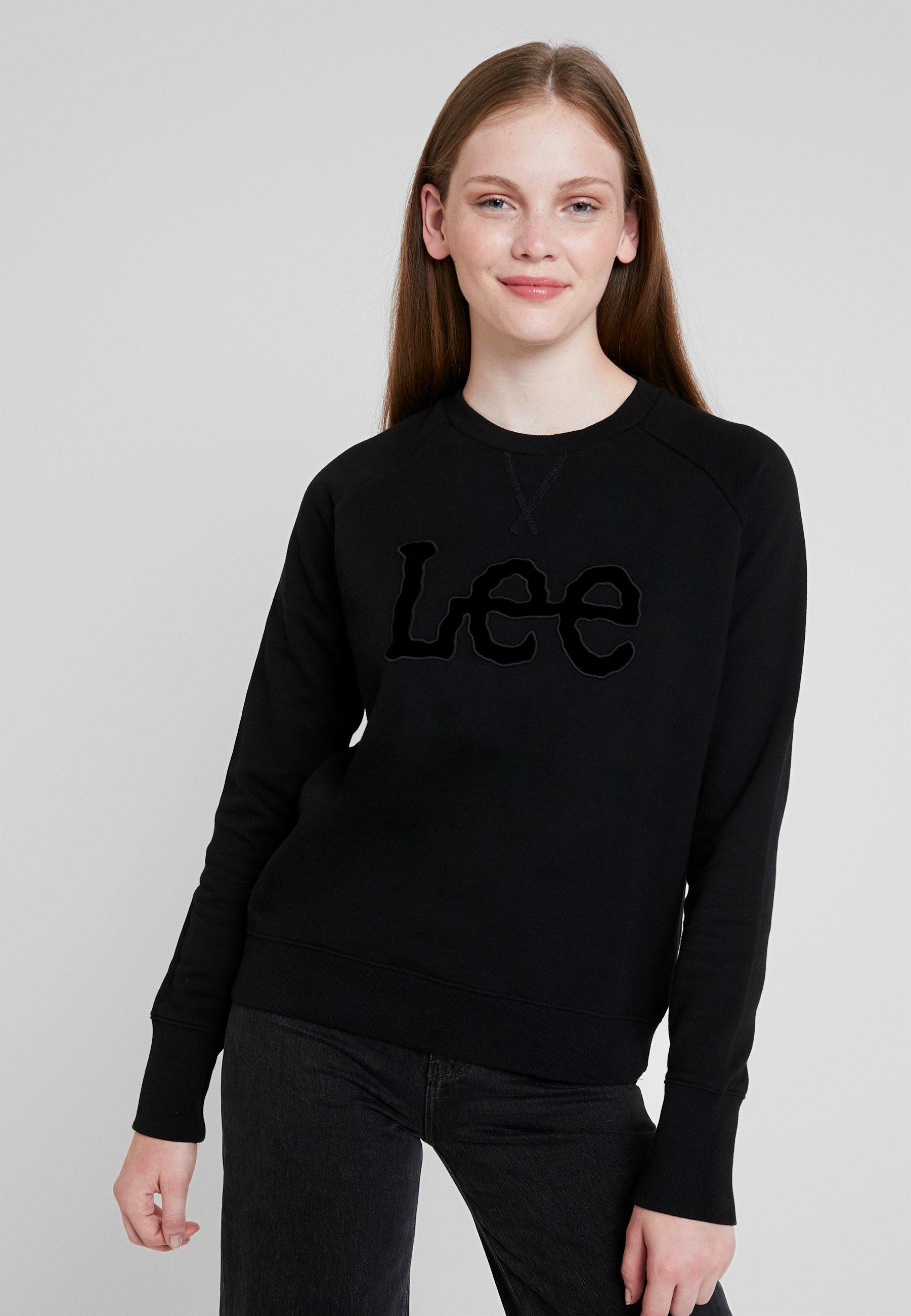 Lee Black LogoSweatshirt Lee LogoSweatshirt Essential LogoSweatshirt Essential Black Black Lee Lee Essential Essential LogoSweatshirt IDHEY9W2
