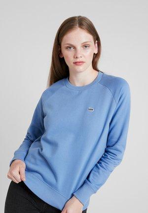 PLAIN CREW NECK - Felpa - frost blue