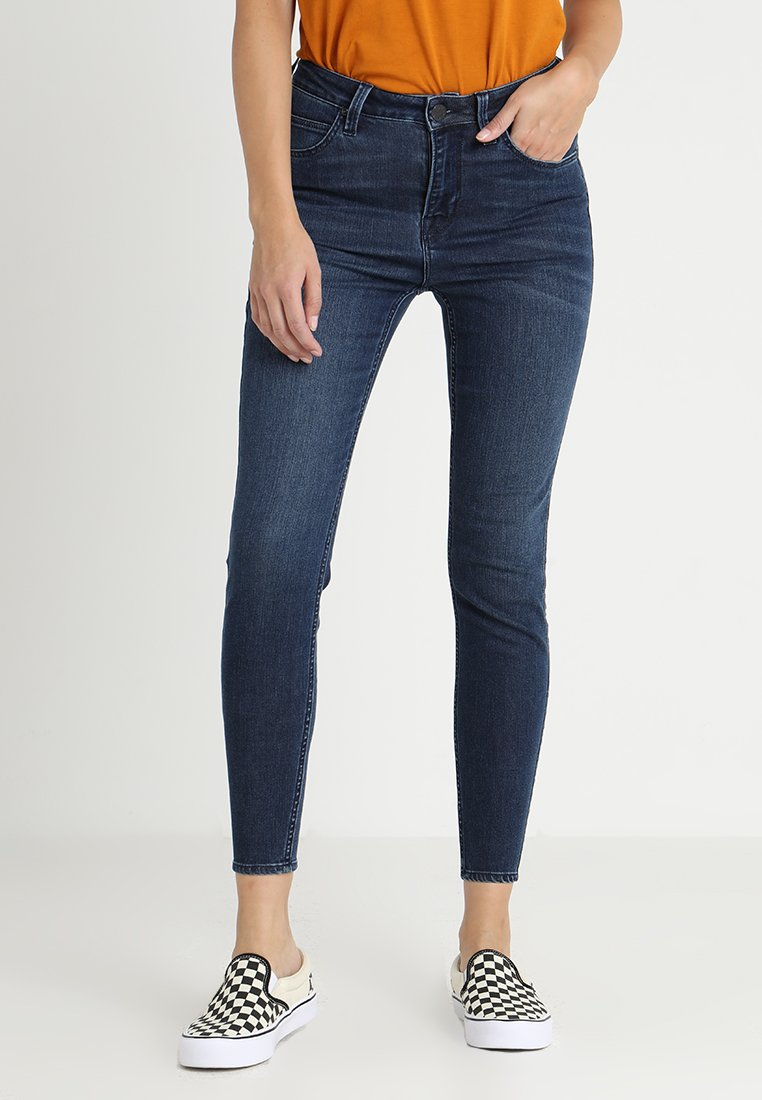 Lee - SCARLETT HIGH CROPPED - Jeans Skinny Fit - palooza blue