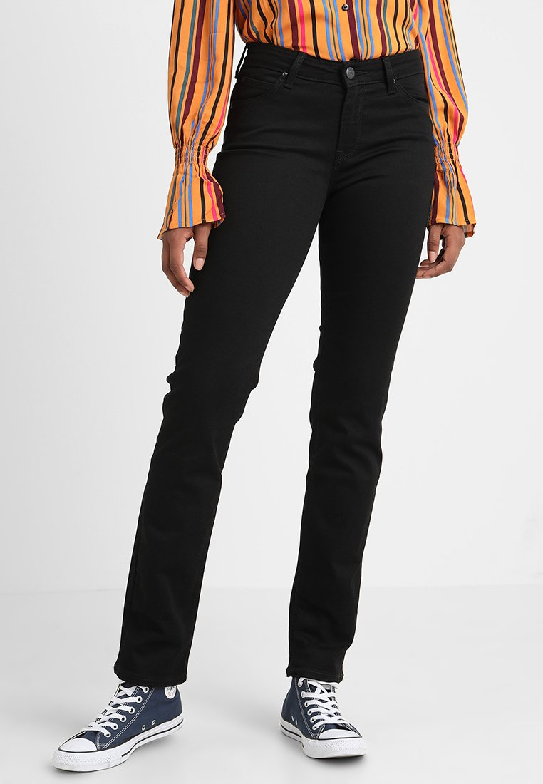 Lee - MARION STRAIGHT - Straight leg jeans - black rinse
