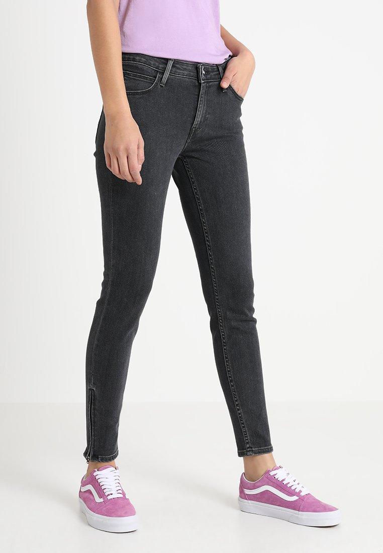 Lee - SCARLETT CROPPED - Jeans Skinny Fit - concrete grey