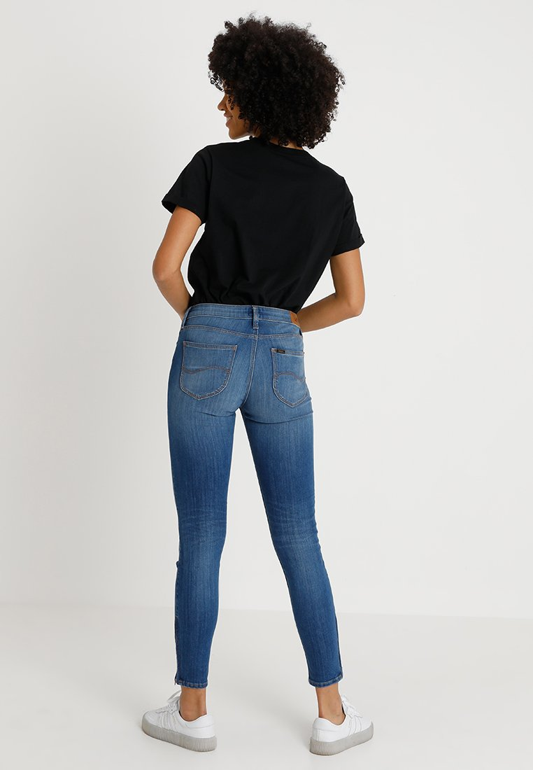 Scarlett Lee Blue Skinny CroppedJeans Denim CodBex