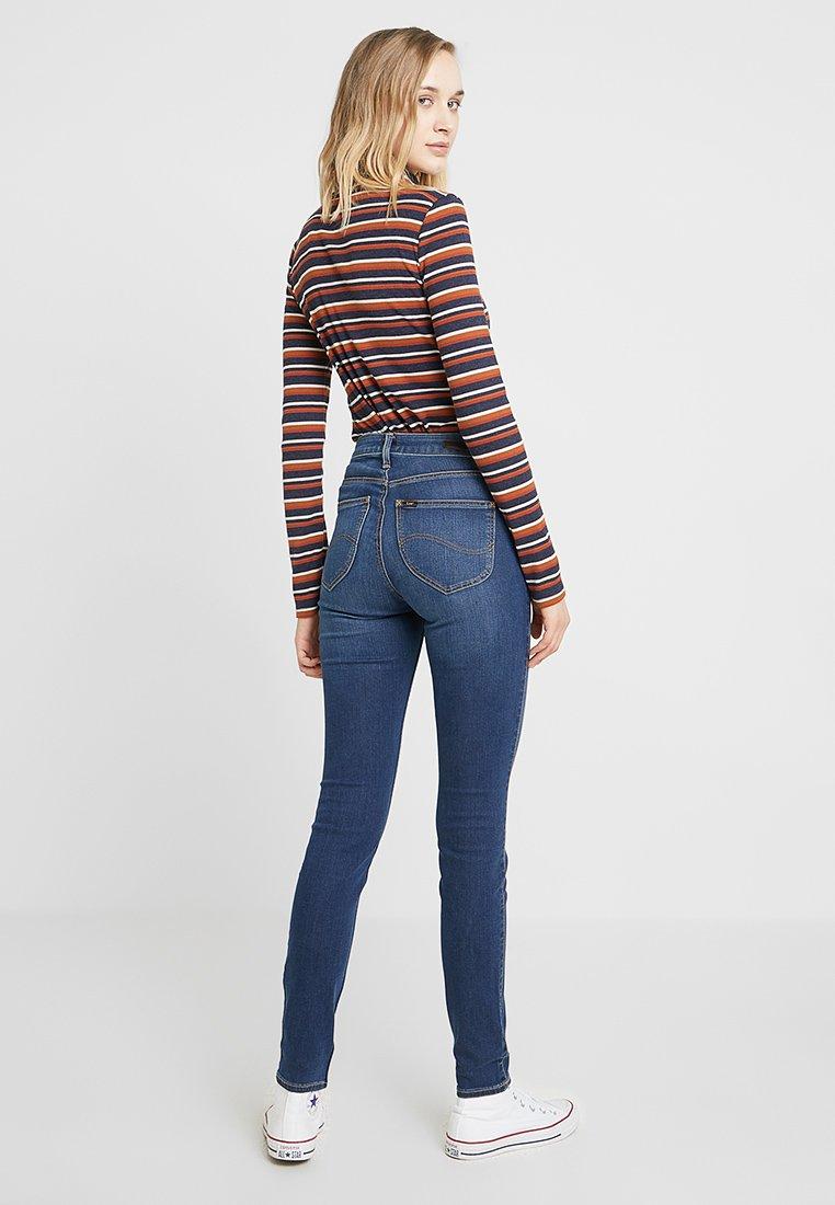 Dark Scarlett Used Skinny HighJeans Lee pzVSUM