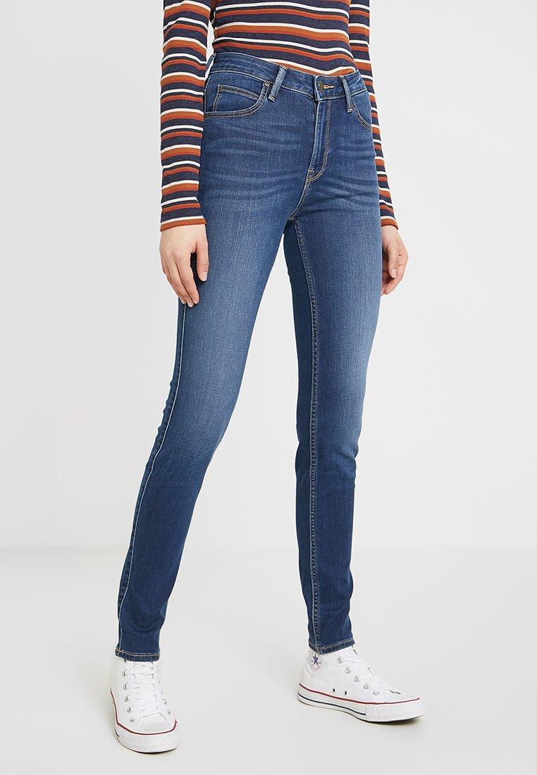 Lee - SCARLETT HIGH - Jeans Skinny Fit - dark used