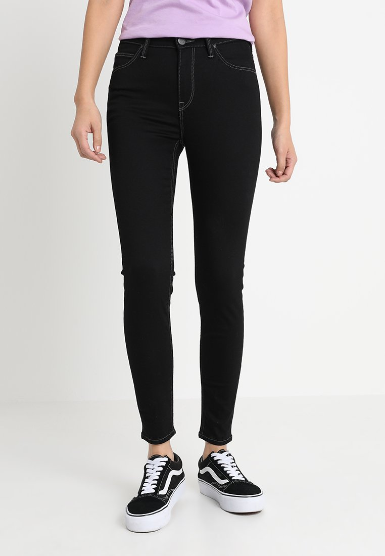 Lee - SCARLETT HIGH CROPPED - Jeans Skinny Fit - black rinse