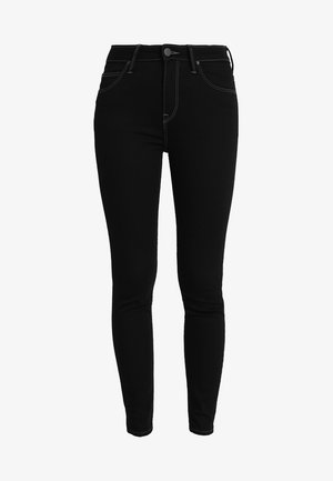SCARLETT HIGH CROPPED - Jeansy Skinny Fit - black rinse