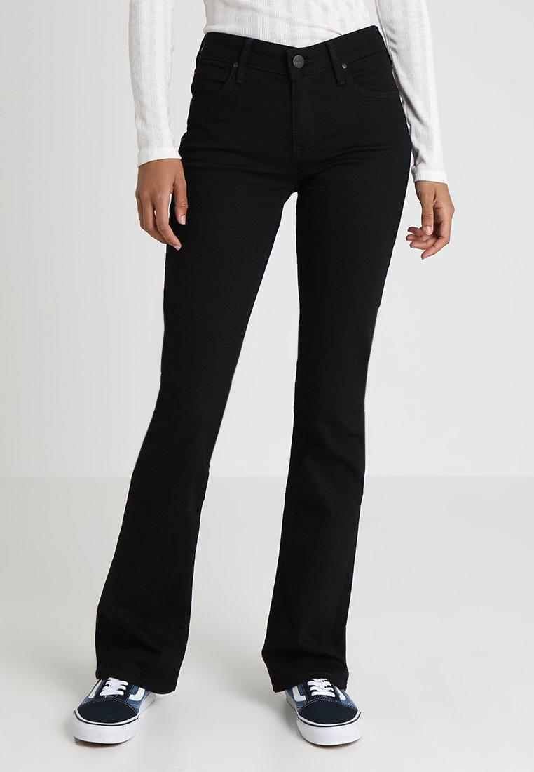 Lee - HOXIE - Bootcut jeans - black denim