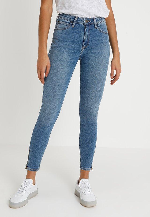 SCARLETT HIGH ZIP - Jeans Skinny Fit - blue aged
