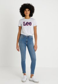 Lee - SCARLETT HIGH ZIP - Jeans Skinny Fit - blue aged - 1