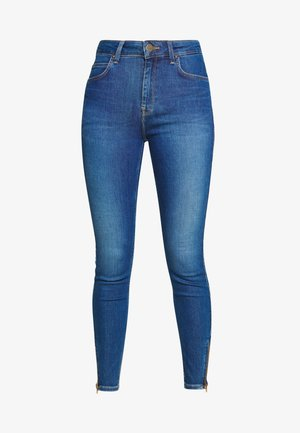 SCARLETT HIGH ZIP - Jeans Skinny - mid candy