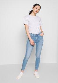 Lee - SCARLETT HIGH ZIP - Jeansy Skinny Fit - broken blue - 3