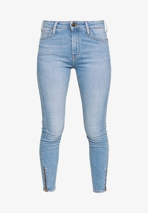 SCARLETT HIGH ZIP - Jeansy Skinny Fit - broken blue