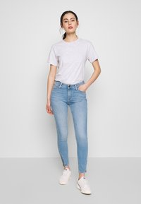 Lee - SCARLETT HIGH ZIP - Jeansy Skinny Fit - broken blue - 1