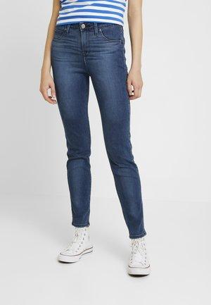SCARLETT HIGH SIDEPANEL - Jeans Skinny - dark night damage