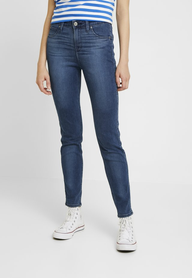SCARLETT HIGH SIDEPANEL - Jeansy Skinny Fit - dark night damage