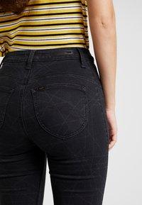 Lee - SCARLETT HIGH SIDEPANEL - Jeans Skinny Fit - black denim - 4