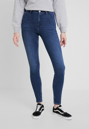SCARLETT HIGH - Jeansy Skinny Fit - sitka worn in