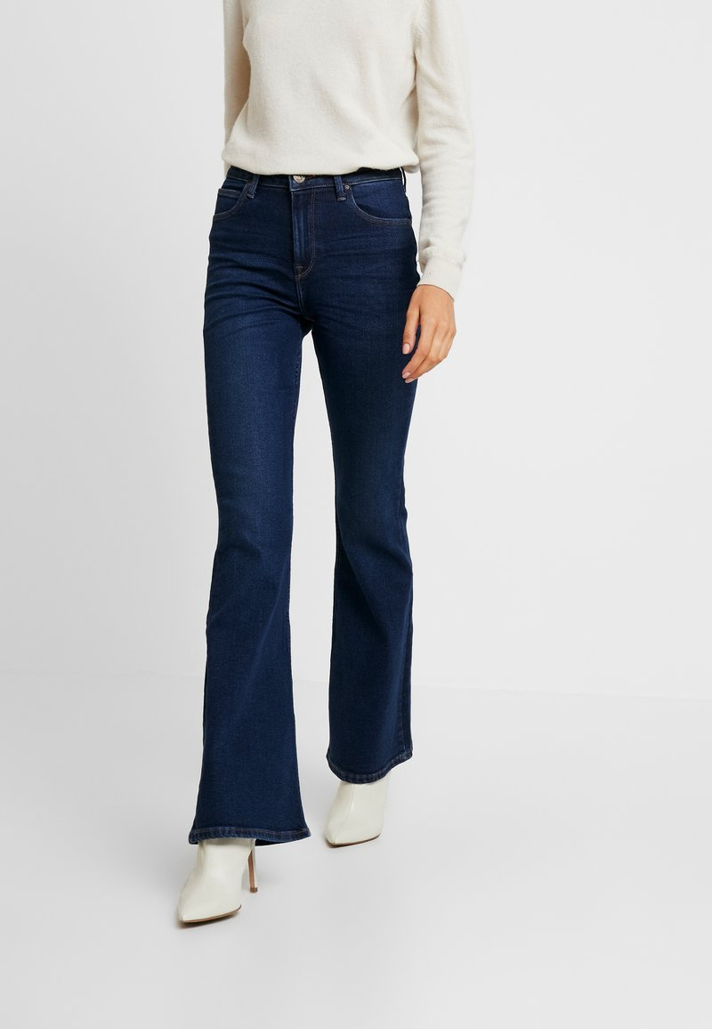 Lee - BREESE - Flared jeans - dark wardell