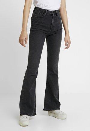 BREESE - Flared jeans - black bucklin