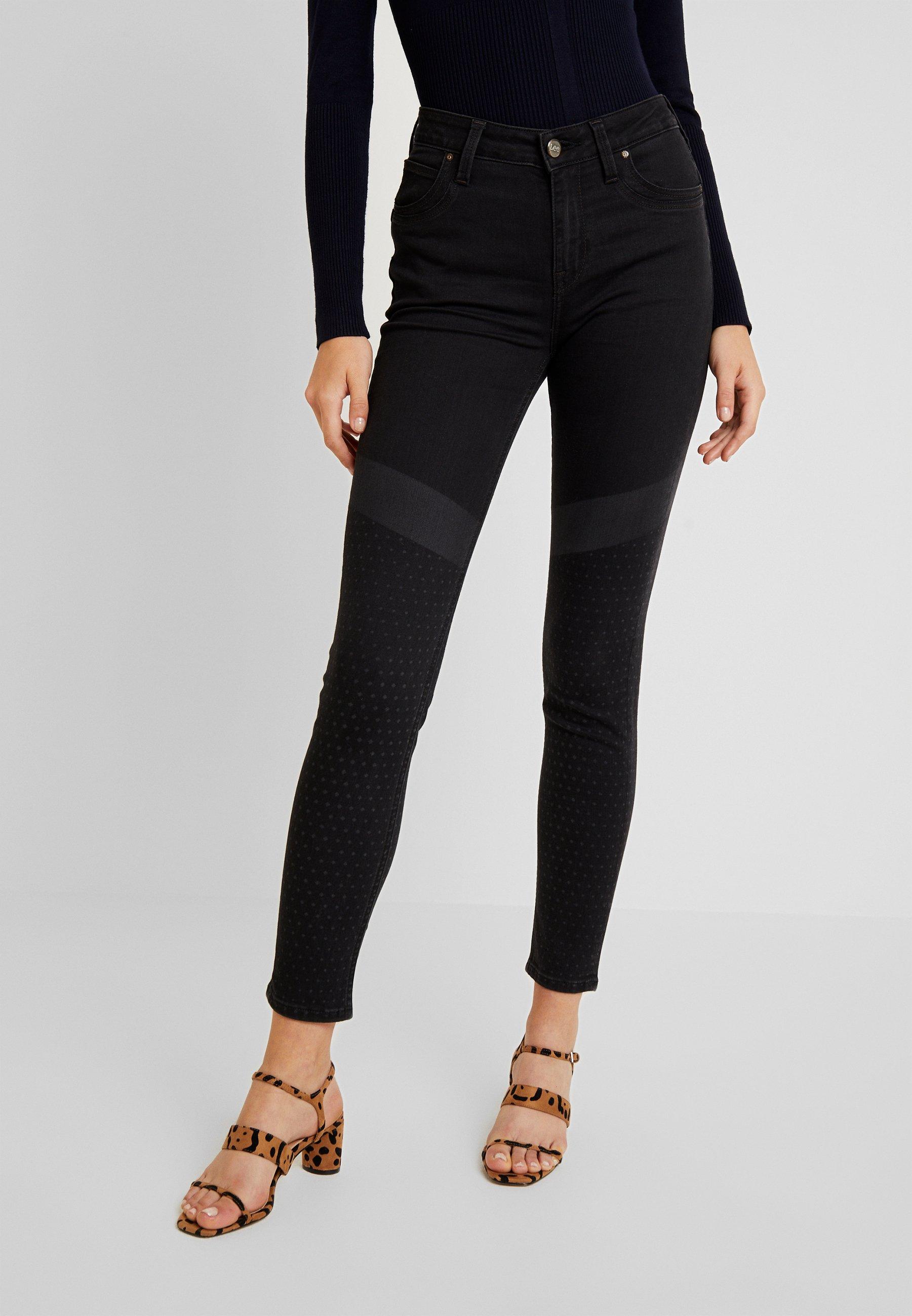 Lee SCARLETT HIGH BODY OPTIX - Jeans Skinny Fit base shade