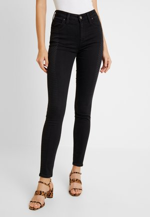 SCARLETT HIGH BODY OPTIX - Jeans Skinny Fit - la scrape