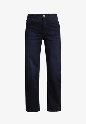 5 POCKET WIDE LEG - Jeans straight leg - blue-black denim