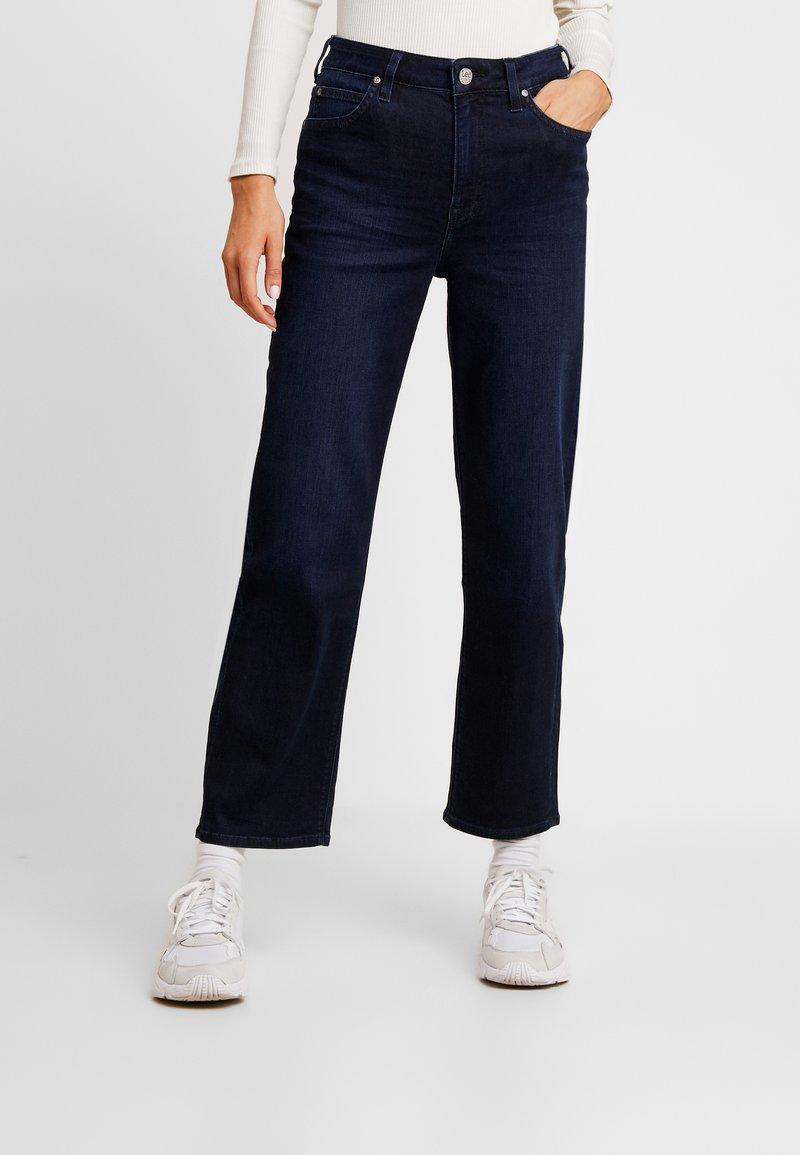 Lee - 5 POCKET WIDE LEG - Jeans a sigaretta - blue-black denim