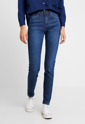 SCARLETT HIGH SUSTAINABLE - Jeansy Skinny Fit - dark-blue denim