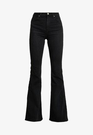 SUPER HIGH FLARE OPTIX - Jean flare - black lush