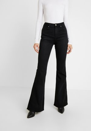 SUPER HIGH FLARE OPTIX - Flared Jeans - black lush
