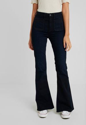 Flared jeans - mulberry