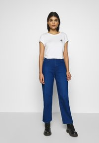 Lee - WIDE LEG - Relaxed fit jeans - dark worn - 1