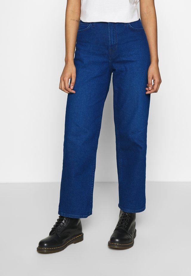WIDE LEG - Jeans relaxed fit - dark worn