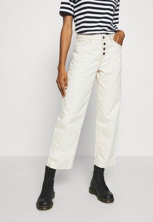 WIDE LEG - Relaxed fit jeans - white denim