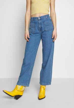 WIDE LEG - Relaxed fit jeans - light drape