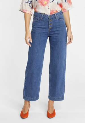 WIDE LEG - Vaqueros boyfriend - dark blue