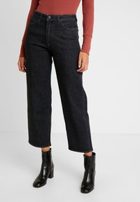 Lee - WIDE LEG - Jeans relaxed fit - black denim - 0