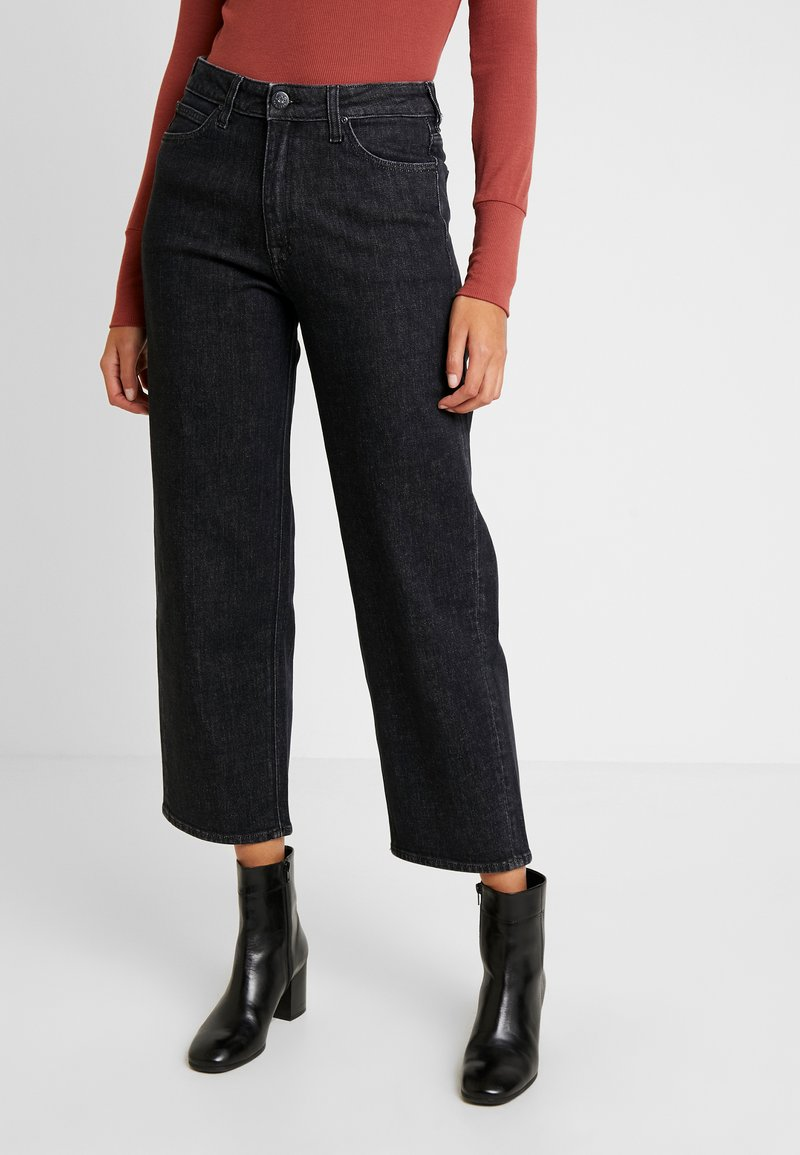 Lee - WIDE LEG - Jeans relaxed fit - black denim