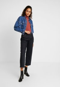 Lee - WIDE LEG - Jeans relaxed fit - black denim - 1