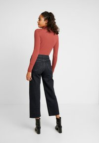 Lee - WIDE LEG - Jeans relaxed fit - black denim - 2