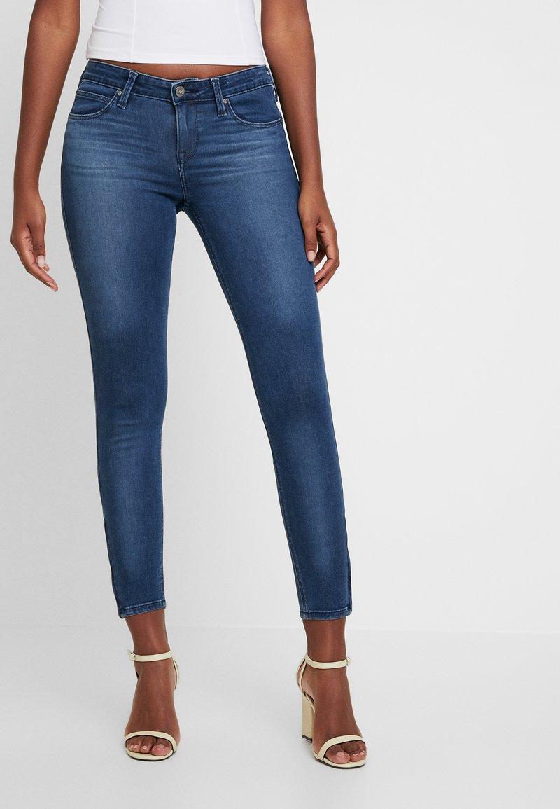 Lee - SCARLETT CROPPED - Jeans Skinny Fit - dark night damage