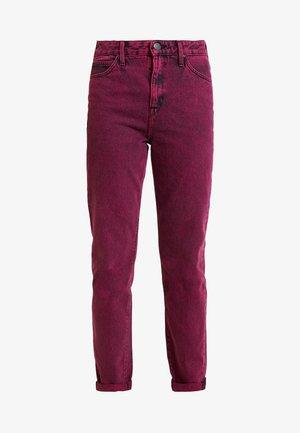 MOM  - Jeans straight leg - beetroot