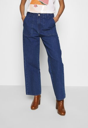 WIDE LEG - Trousers - mid jelt