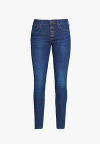 Lee - SCARLETT BUTTONS - Jeansy Skinny Fit - dark blue denim - 4