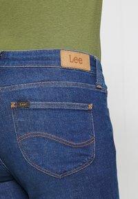 Lee - SCARLETT BUTTONS - Jeansy Skinny Fit - dark blue denim - 5