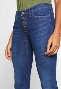Lee - SCARLETT BUTTONS - Jeansy Skinny Fit - dark blue denim - 3
